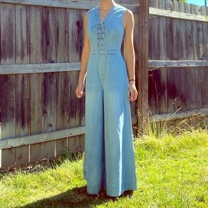 [signature eight] Wide flare jumpsuit / size S